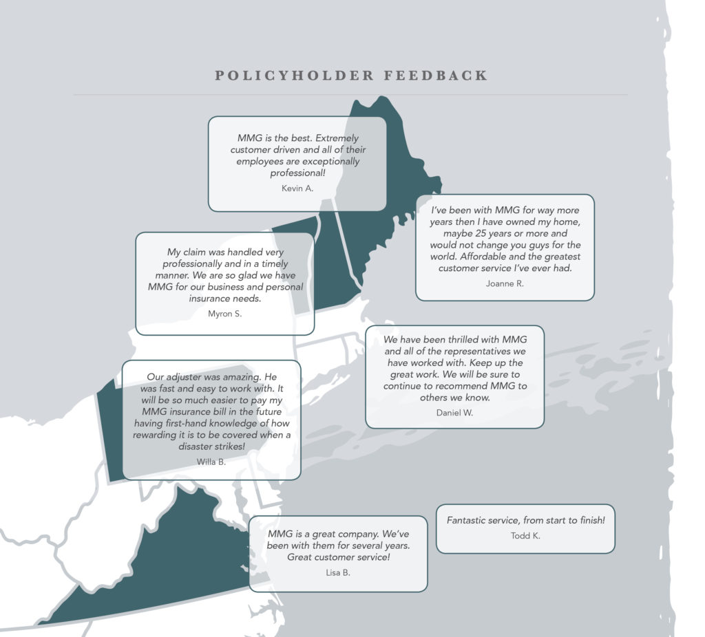 policyholder feedback map graphic